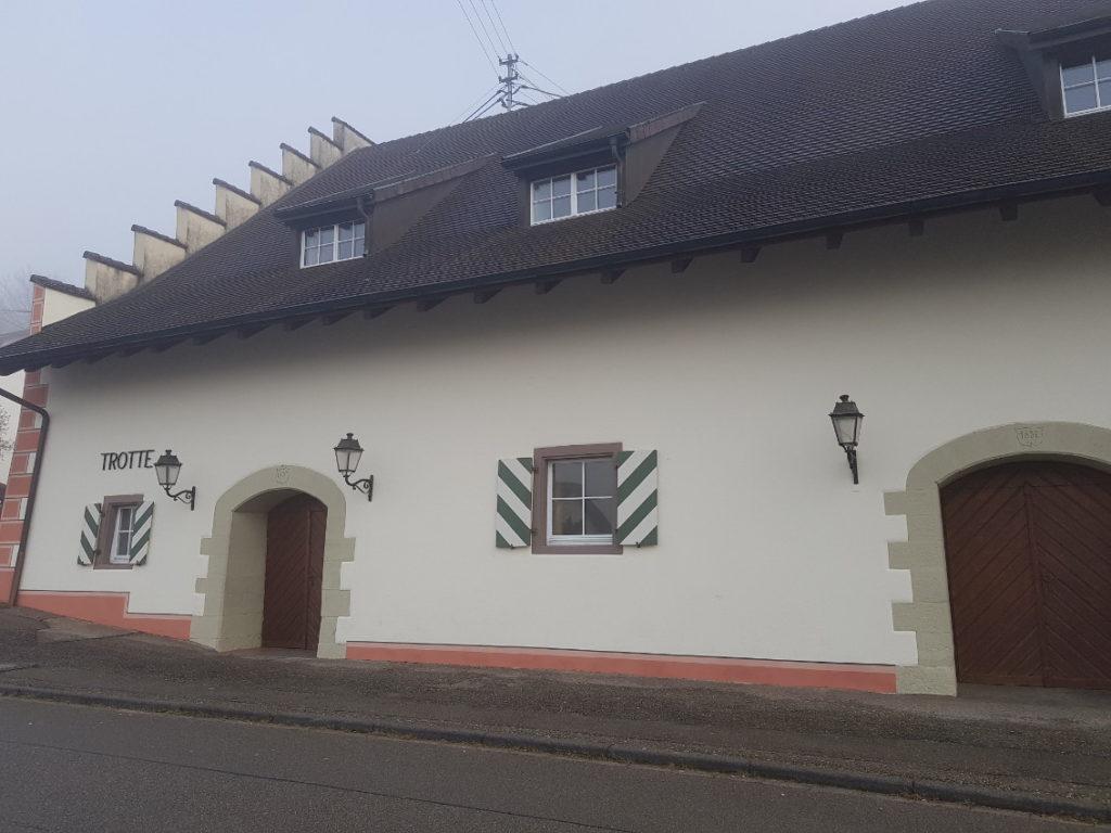 Teilsarnierung der Trotte in Kadelburg 10