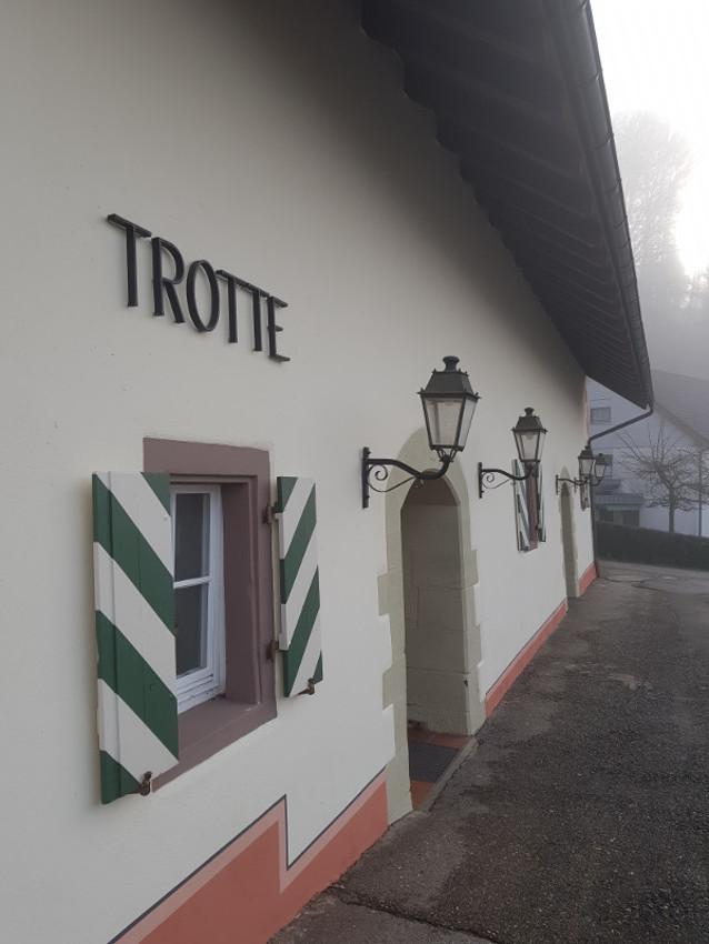 Teilsarnierung der Trotte in Kadelburg 12