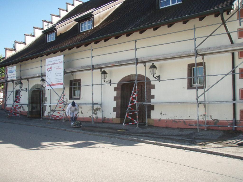 Teilsarnierung der Trotte in Kadelburg 4