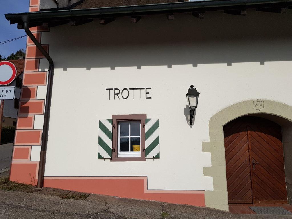 Teilsarnierung der Trotte in Kadelburg 6