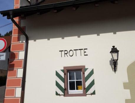 Teilsanierung der Trotte in Kadelburg