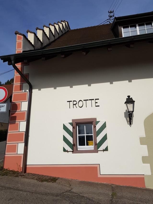 Teilsarnierung der Trotte in Kadelburg 7