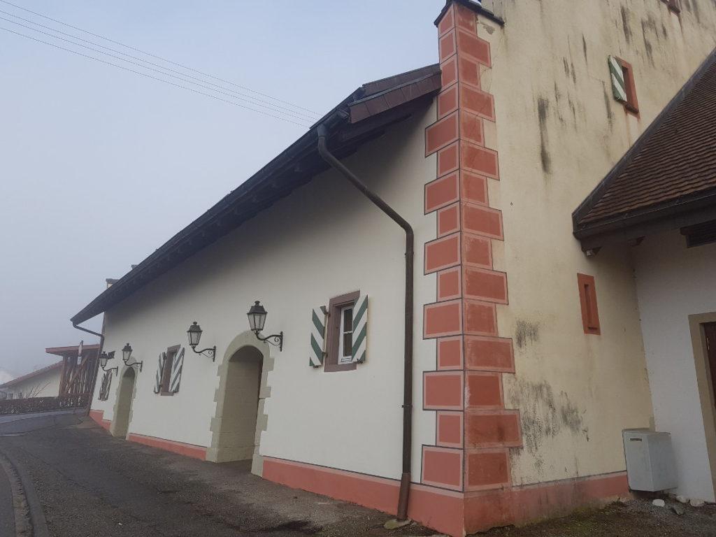 Teilsarnierung der Trotte in Kadelburg 8